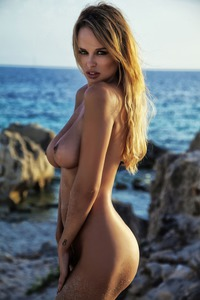 Rhian Sugden Hot Sun Kissed Celebrity Sand Covered Body 00
