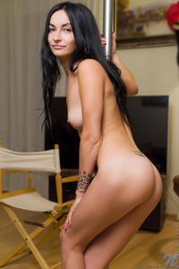 Black Haired Amateur Rita Raven Masturbates 12