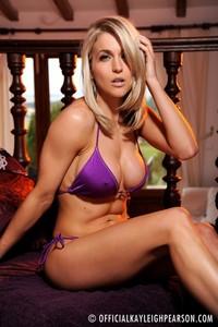 Kayleigh Pearson Purple Bikini 00