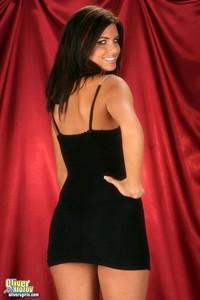Veronica Strips Off Her Tight Black Mini Dress 01