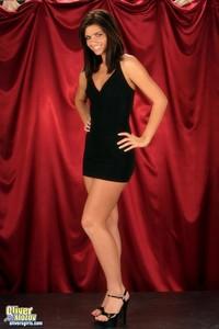 Veronica Strips Off Her Tight Black Mini Dress 02