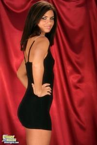 Veronica Strips Off Her Tight Black Mini Dress 03
