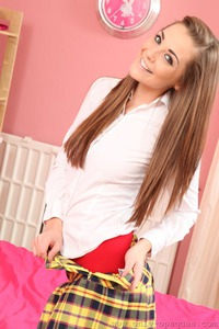 Brunette Schoolgirl Daisy Watts After The School 07