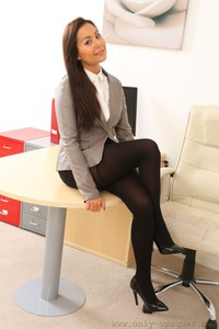 Lily Strips In The Office 00