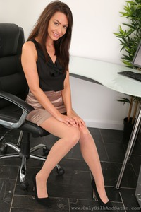 Sexy Secretary Sarah Stripping In The Office 00