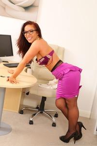 Hot Brunette Secretary Scarlett T Waiting For You In The Office 04