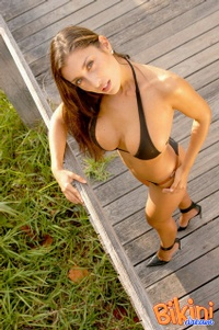 Brunette In Black Bikini 02
