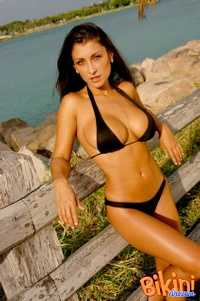 Brunette In Black Bikini 06