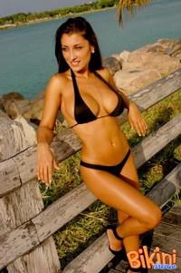 Brunette In Black Bikini 07