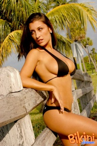 Brunette In Black Bikini 09
