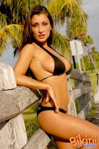 Brunette In Black Bikini 10