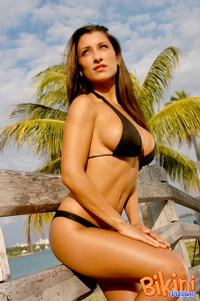Brunette In Black Bikini 11