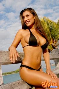 Brunette In Black Bikini 12