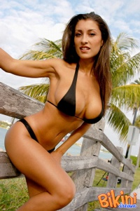 Brunette In Black Bikini 13