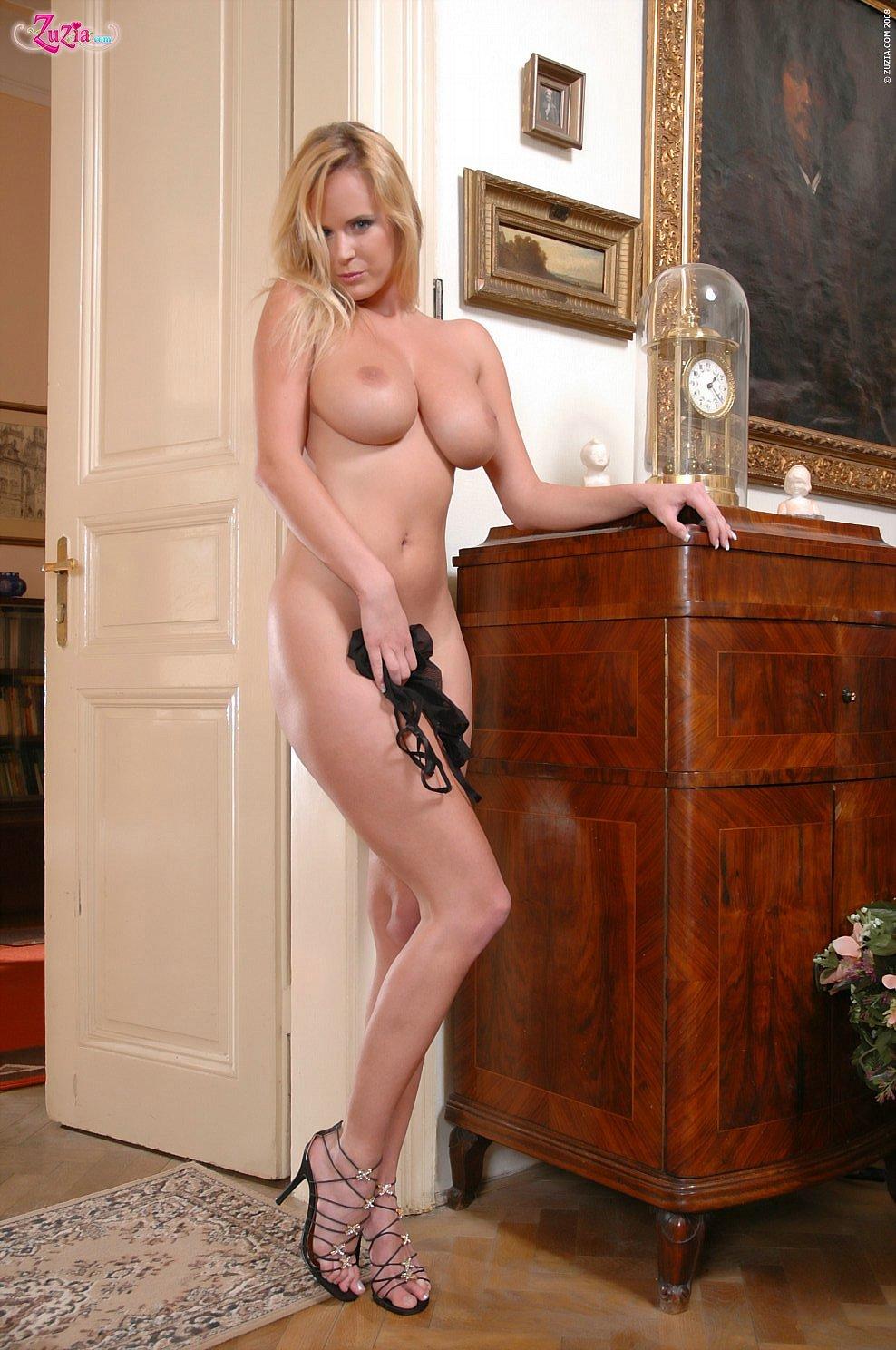 Zuzana In Black Mesh Body 04