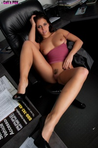 Cali Logan Strips In The Office 07