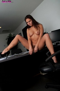 Cali Logan Strips In The Office 10