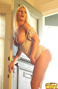 Big Breasted Blonde Strips Down 06