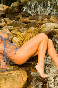 Michelle Ramos Nude At The Waterfall 00