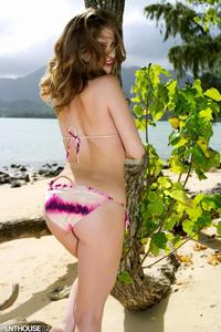 Emily Addison Drops Her Bikini On The Beach 03