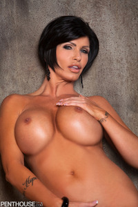 Busty Tattooed Penthouse Pet Shay Fox Getting Nude 17