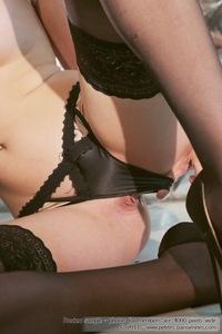 Kenza Black Stockings 07