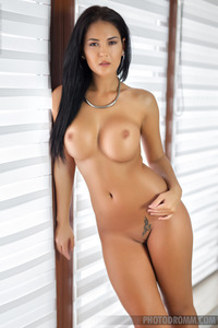Gorgeous Brunette Glamour Babe Kendra Strips 10
