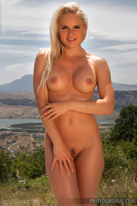 Hot Glamour Model Victoria Angel Undressing Outdoors 11