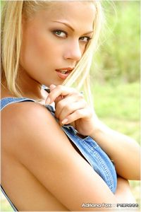 Blond Beauty Adriana Malkova Fingers Her Tight Pussy 01