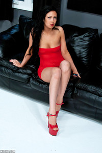 Sabrina Sins Red Dress And Heels 00