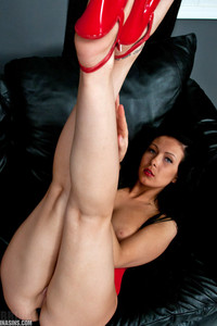 Sabrina Sins Red Dress And Heels 05