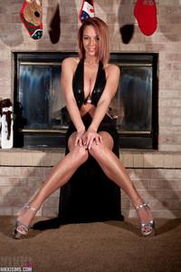 Nikki Sims Long Black Dress 07