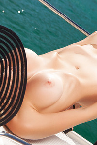 Khloe Terae Posing On The Boat 06