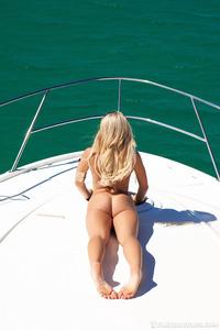 Khloe Terae Posing On The Boat 19