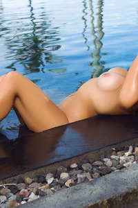 Jessica Ann Naked Siren In The Pool 16