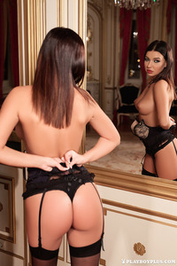 Milica Posing Before The Mirror 03