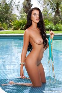 Hot Playmate Ashleigh Hannah By The Pool 05