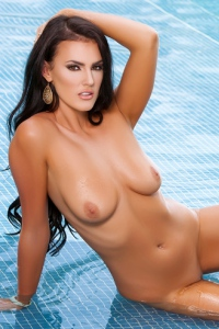 Hot Playmate Ashleigh Hannah By The Pool 13