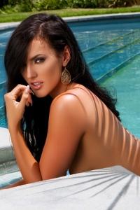 Hot Playmate Ashleigh Hannah By The Pool 20
