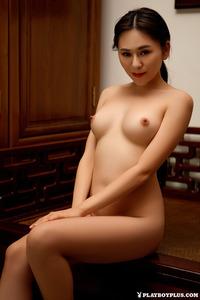 Sexy Asian Playmate Wu Muxi Posing In Silk Kimono 09