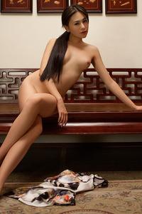 Sexy Asian Playmate Wu Muxi Posing In Silk Kimono 12