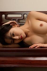 Sexy Asian Playmate Wu Muxi Posing In Silk Kimono 13
