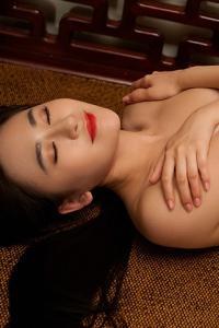 Sexy Asian Playmate Wu Muxi Posing In Silk Kimono 20