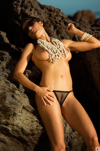 Jo Garcia Nude On The Beach 01