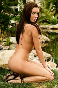 Kortnie O'Connor Strips In The Garden 10