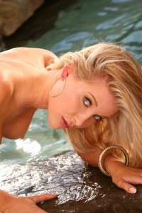 Natalie Kane Gets Nude In The Pool 14