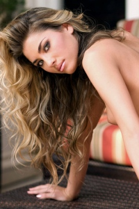 Curly Blonde Playboy Babe Thea Coleman 10