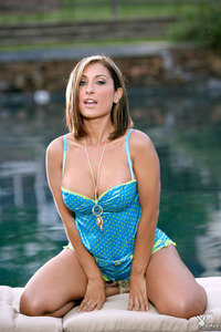 Jessica Canizales Strips By The Pool 01