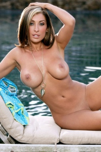 Jessica Canizales Strips By The Pool 09