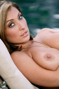 Jessica Canizales Strips By The Pool 12